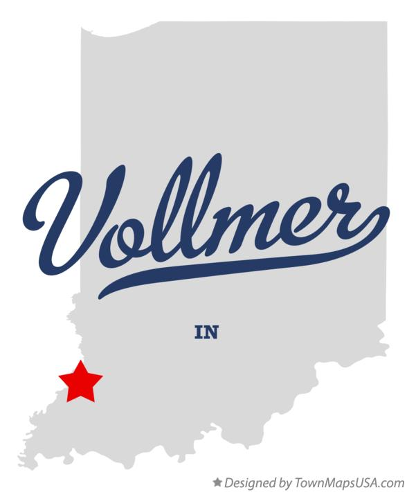 Map of Vollmer Indiana IN