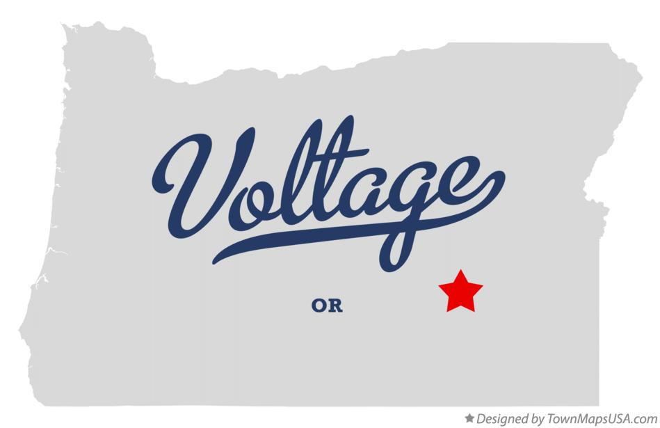 Map of Voltage Oregon OR