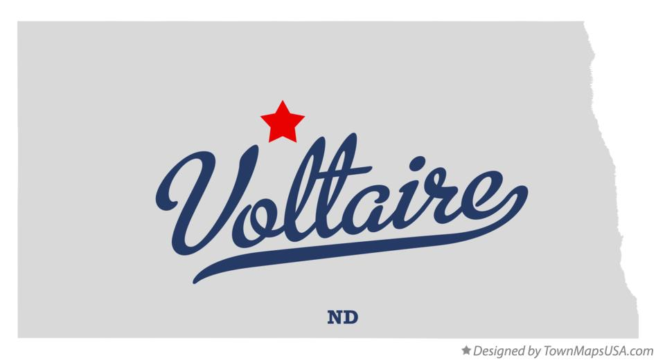 Map of Voltaire North Dakota ND