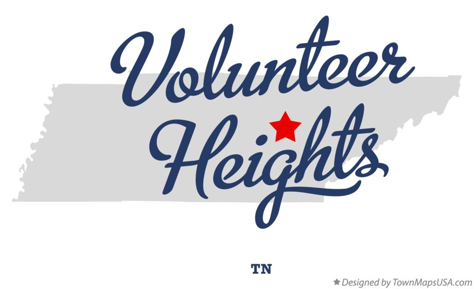 Map of Volunteer Heights Tennessee TN
