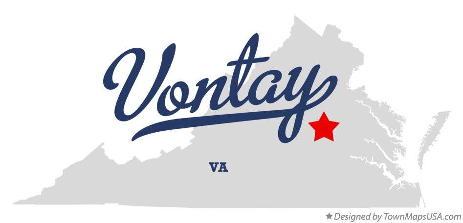 Map of Vontay Virginia VA