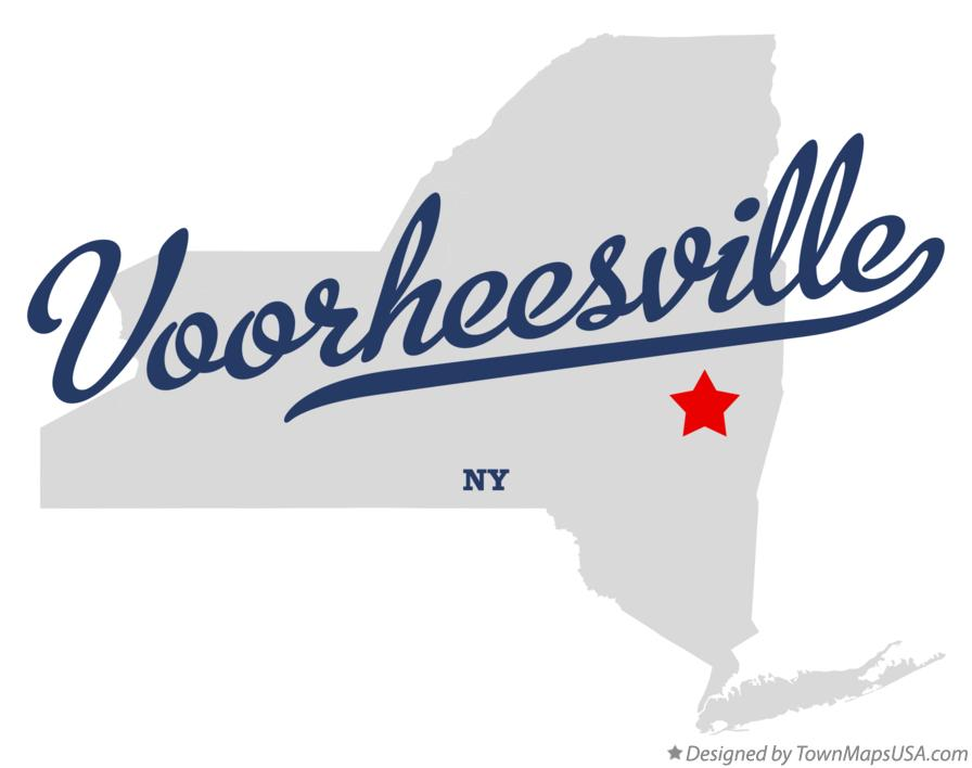 Map of Voorheesville New York NY
