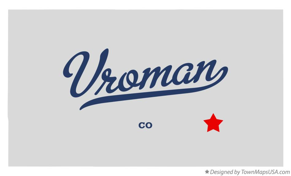 Map of Vroman Colorado CO