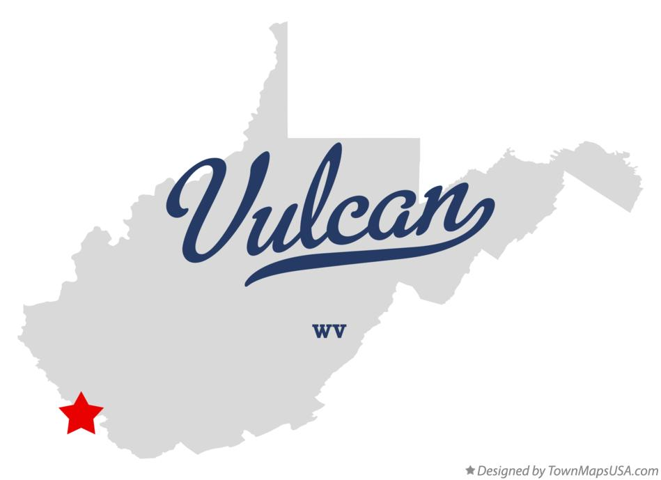 Map of Vulcan West Virginia WV