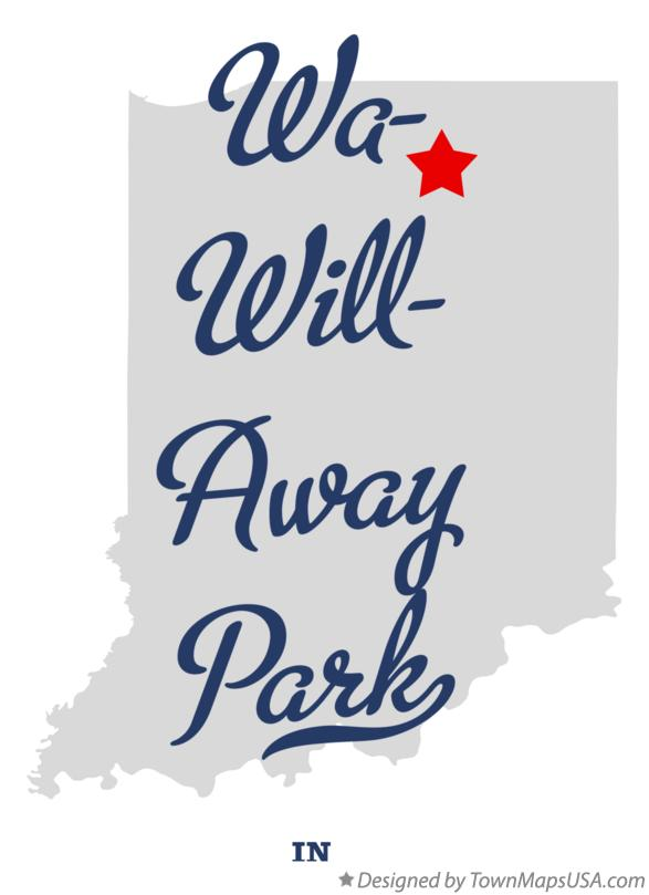 Map of Wa-Will-Away Park Indiana IN