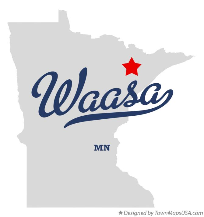 Map of Waasa Minnesota MN