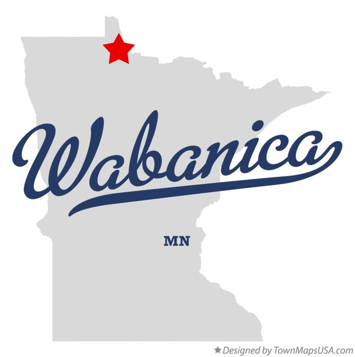 Map of Wabanica Minnesota MN