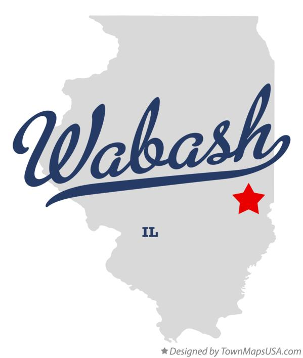 Map of Wabash Illinois IL