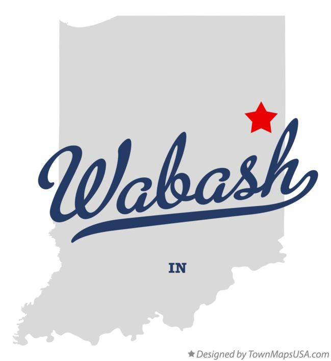 Map of Wabash Indiana IN