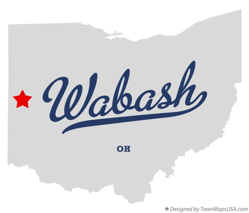 Map of Wabash Ohio OH