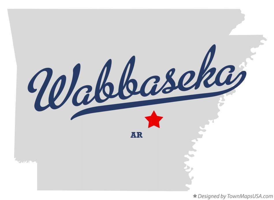Map of Wabbaseka Arkansas AR