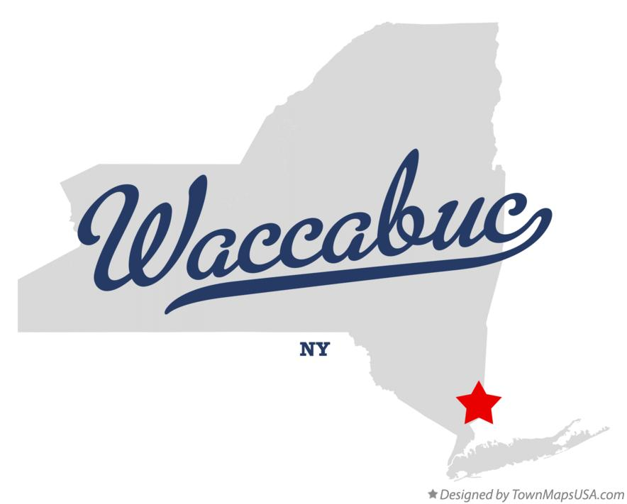 Map of Waccabuc New York NY