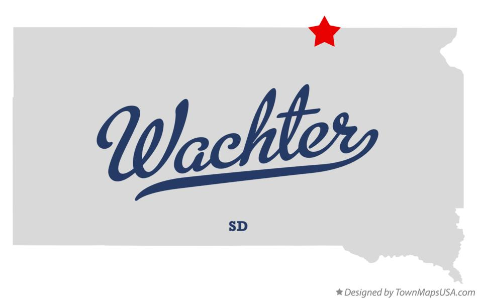Map of Wachter South Dakota SD
