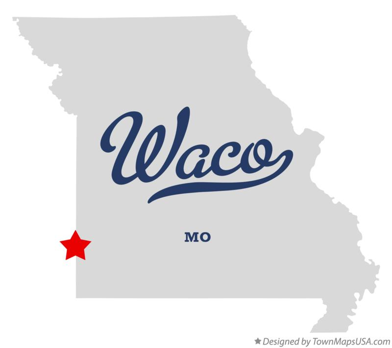 Map of Waco Missouri MO