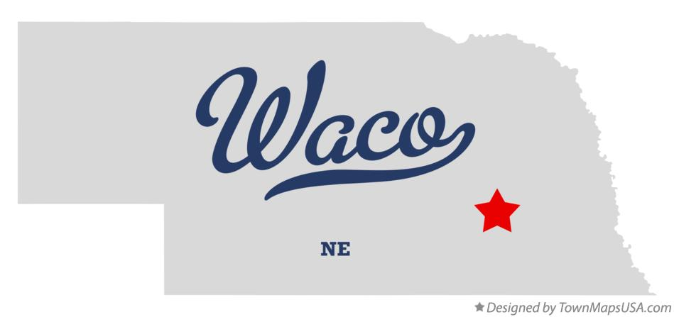 Map of Waco Nebraska NE