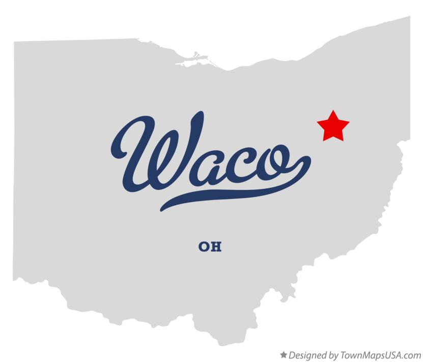 Map of Waco Ohio OH