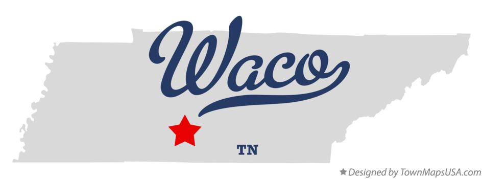 Map of Waco Tennessee TN