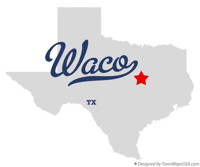 map of waco tx texas