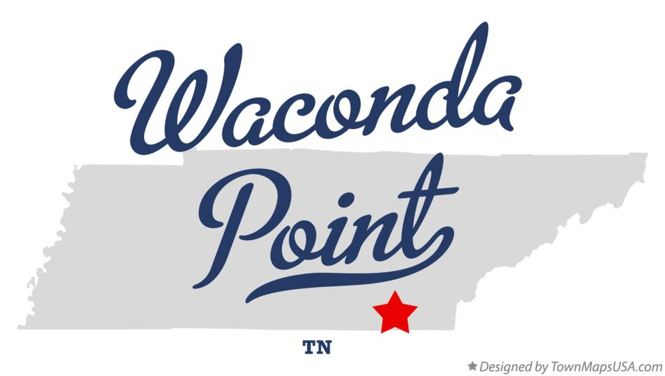 Map of Waconda Point Tennessee TN