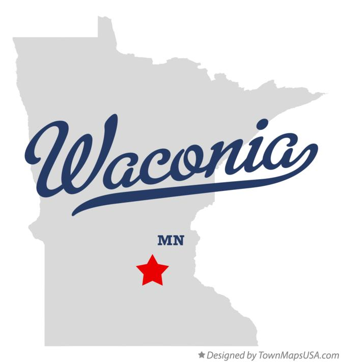 Map of Waconia Minnesota MN