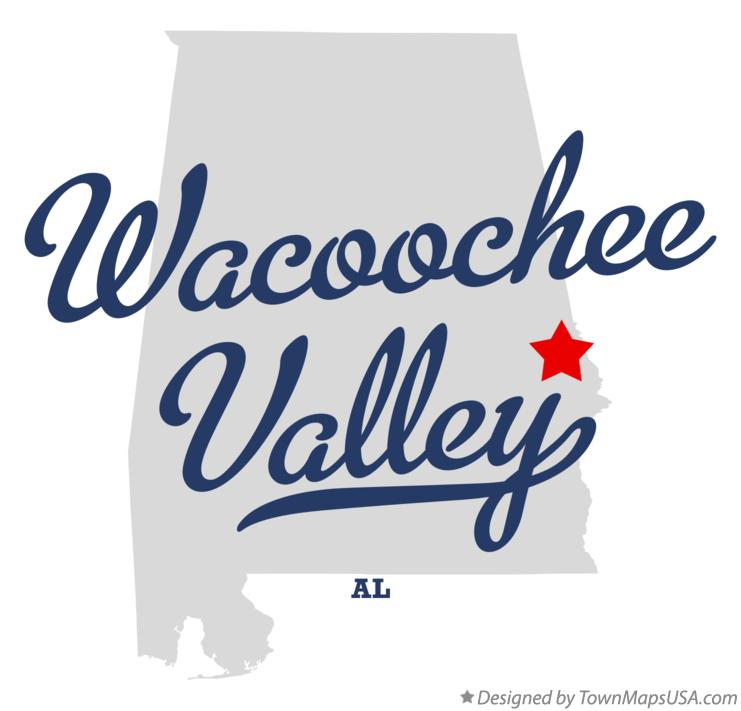 Map of Wacoochee Valley Alabama AL