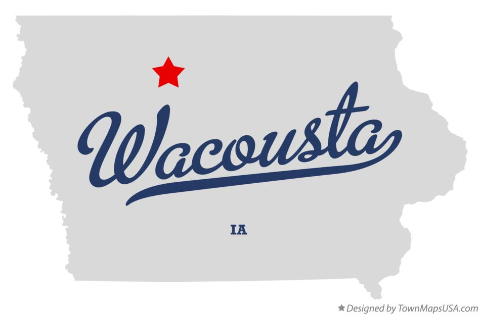 Map of Wacousta Iowa IA