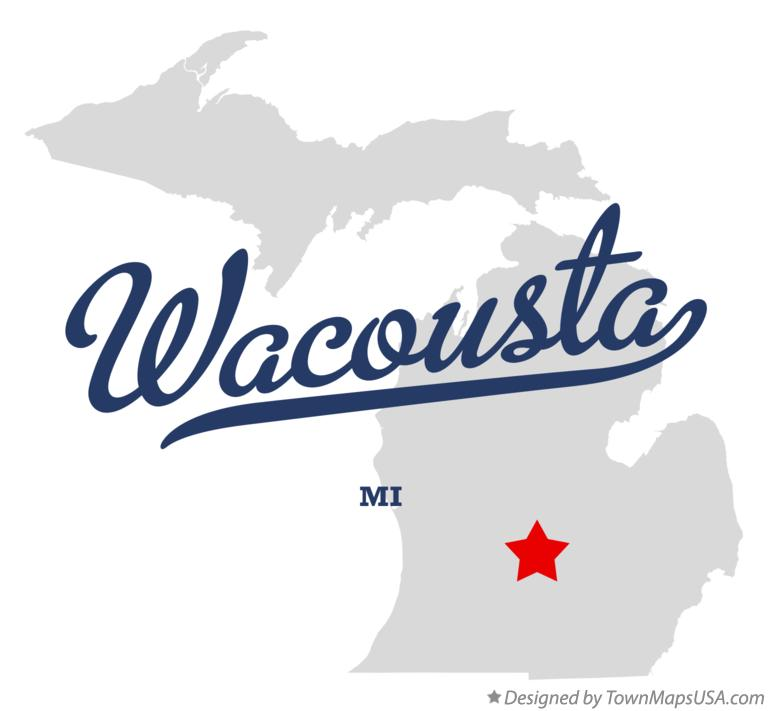 Map of Wacousta Michigan MI