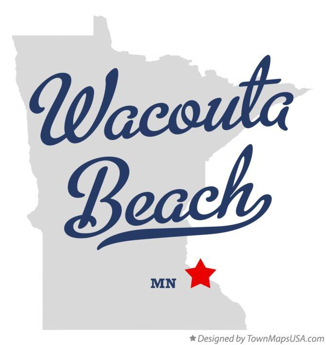 Map of Wacouta Beach Minnesota MN
