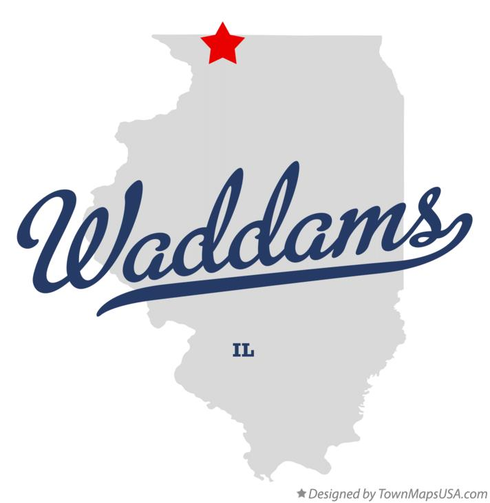 Map of Waddams Illinois IL
