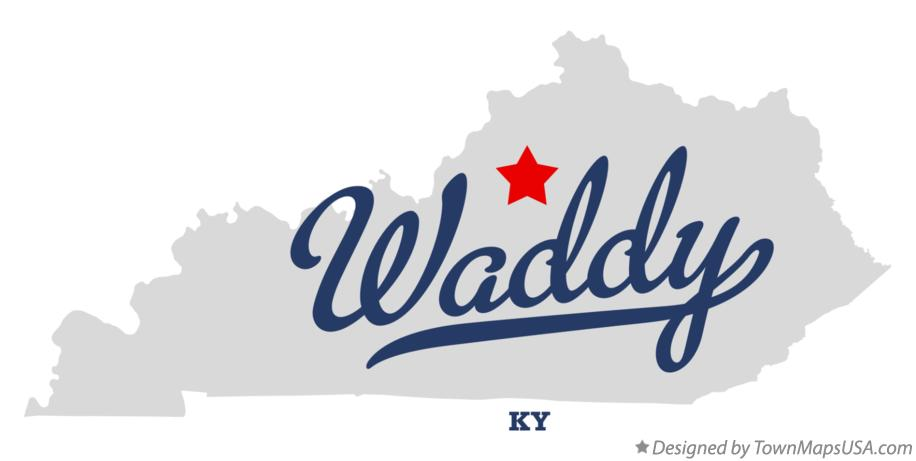 Map of Waddy Kentucky KY