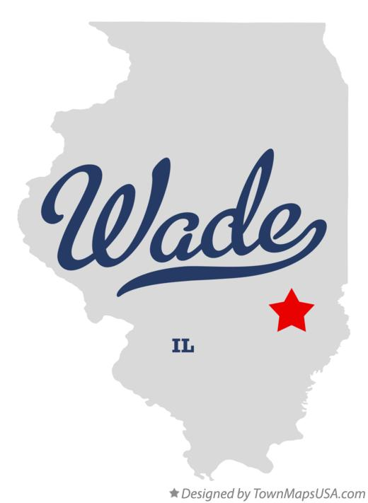 Map of Wade Illinois IL