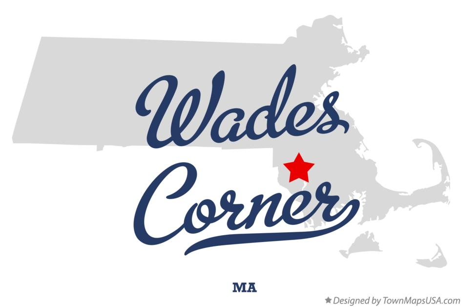 Map of Wades Corner Massachusetts MA