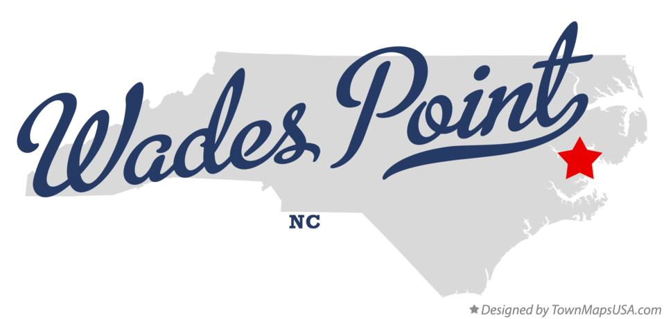 Map of Wades Point North Carolina NC
