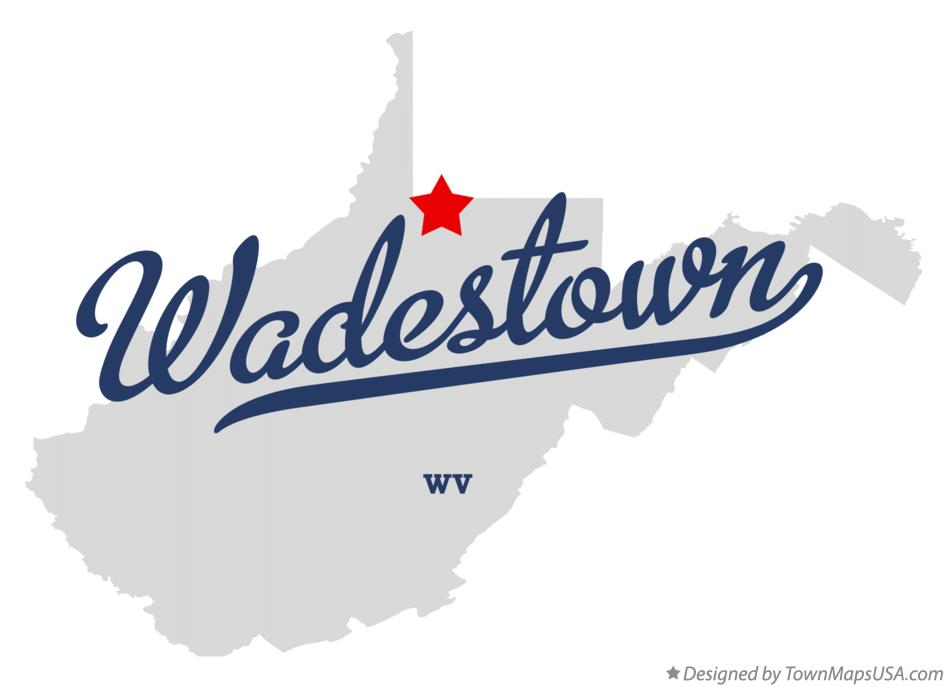Map of Wadestown West Virginia WV