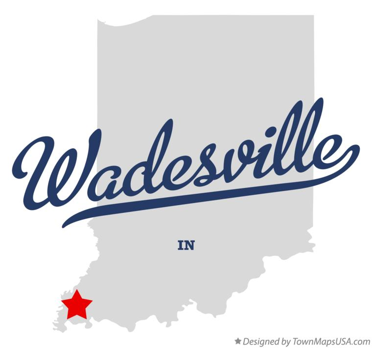 Map of Wadesville Indiana IN