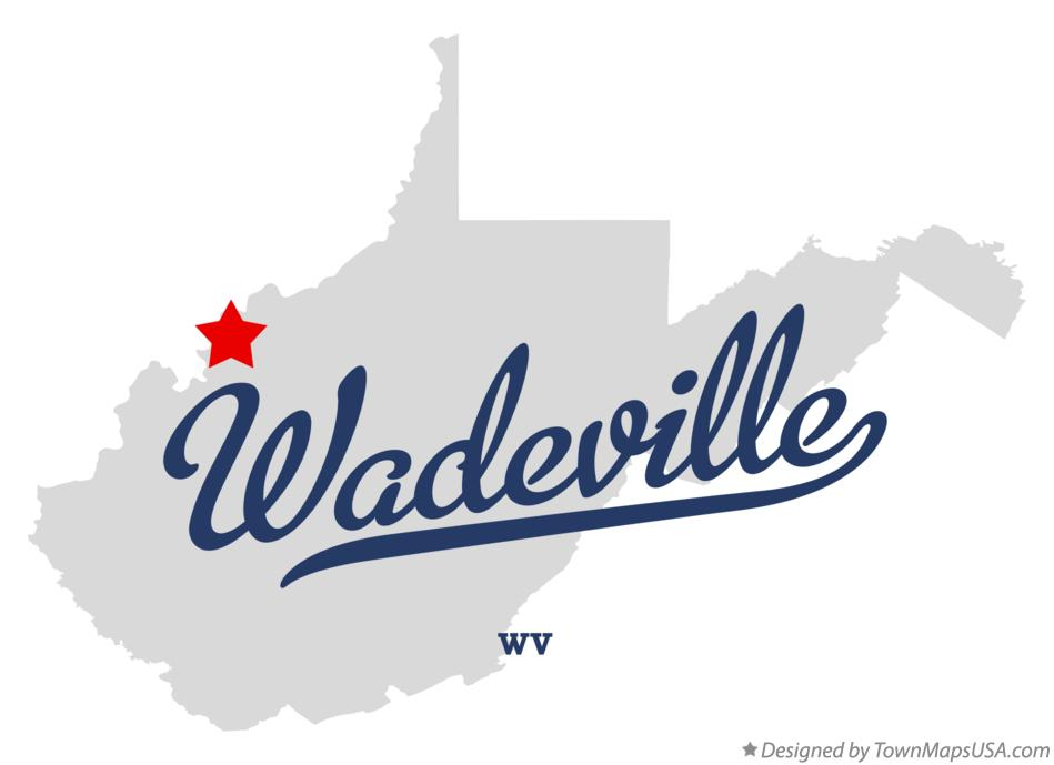 Map of Wadeville West Virginia WV