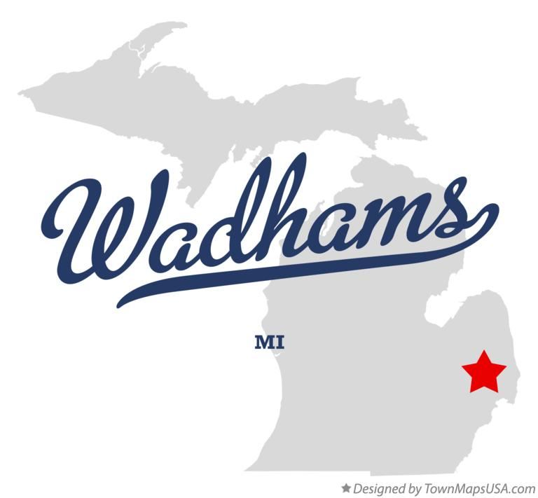 Map of Wadhams Michigan MI