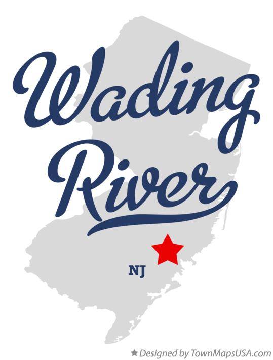 Map of Wading River New Jersey NJ