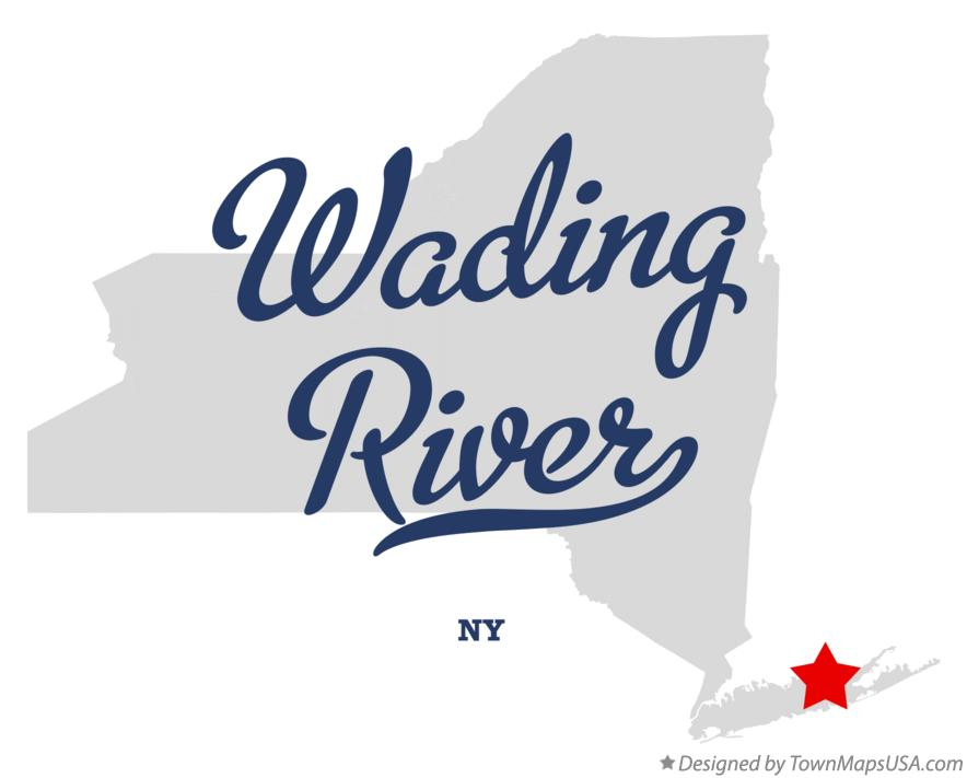 Map of Wading River New York NY