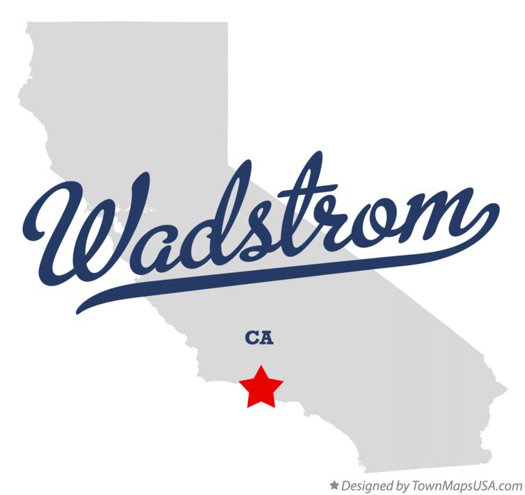 Map of Wadstrom California CA