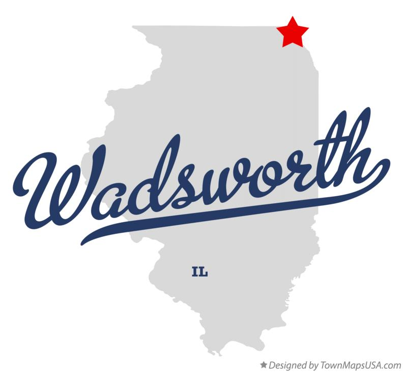 Map of Wadsworth Illinois IL