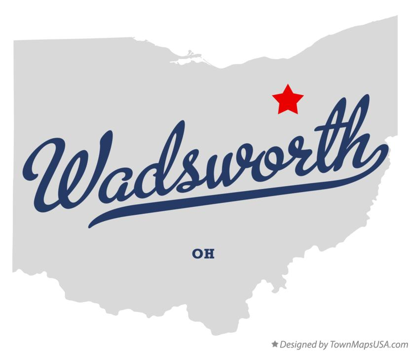 Map of Wadsworth Ohio OH