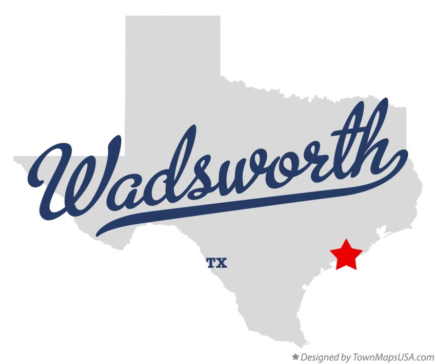 Map of Wadsworth Texas TX