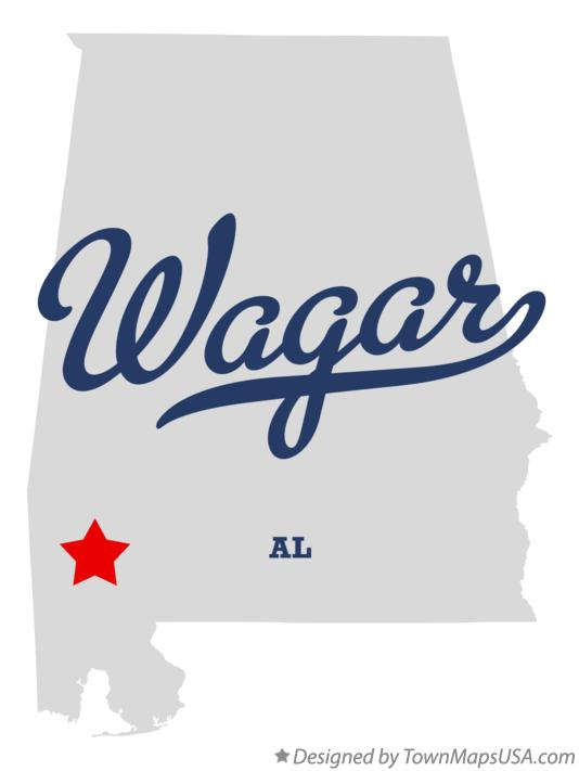 Map of Wagar Alabama AL