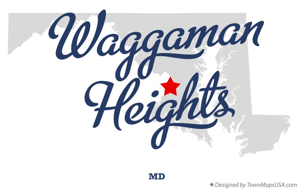 Map of Waggaman Heights Maryland MD