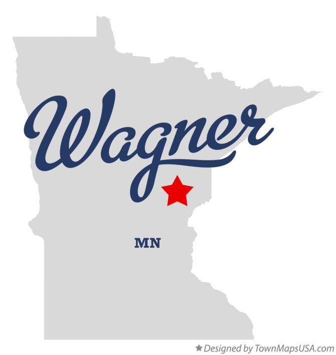 Map of Wagner Minnesota MN