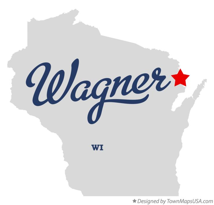 Map of Wagner Wisconsin WI