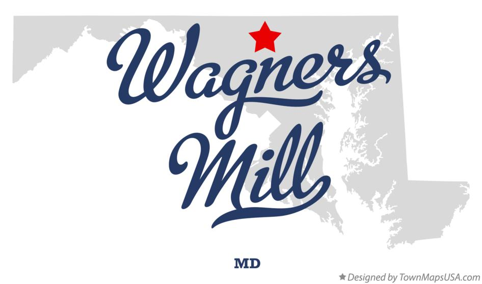 Map of Wagners Mill Maryland MD