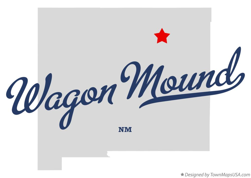 Map of Wagon Mound New Mexico NM