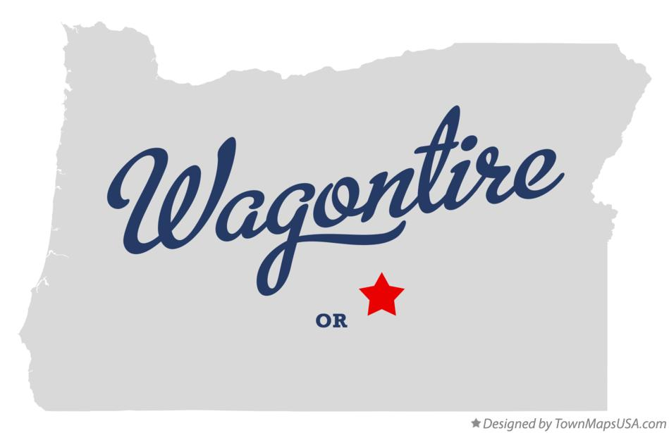 Map of Wagontire Oregon OR